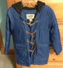 NWT NEW UGG Australia Navy Blue KIDS Hooded TOGGLE JACKET COAT Size 5