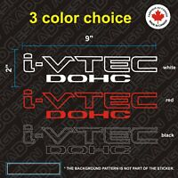 2X  Honda i-vtec DOHC Decal Stickers Acura VTEC Civic Si K20 RSX