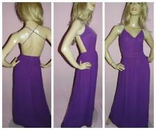VINTAGE 70s PURPLE CUTOUT BACKLESS SEXY MAXI DISCO DRESS 8-10 S 1970s EVENING