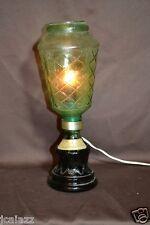 Vintage Italian Wine bottle lamp ORIGINAL old gold foil label marked Burch Wines