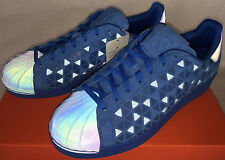 Adidas Superstar Xeno AQ8183 Reflective Blue Casual Basketball Shoes Men's 8.5