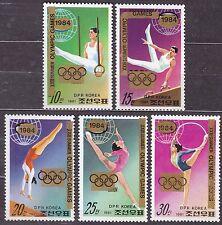 "KOREA Pn. 1983 MNH** SC#2270/74 set, Ovpt. ""XXIII Summer Olympic Games 1984""."