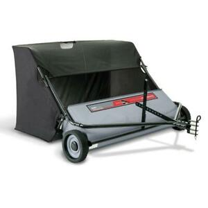 """Tow Pull Behind Lawn Sweeper Leaf Yard Ohio Steel 50"""" Inch 26 Cu. Ft. Collector"""