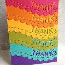 THANKS Wavy Lace Metal Cutting Dies Stencil Scrapbooking Card Embossing Craft
