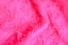 Plüsch pink ca 135 cm breit Meterware Plüschstoff Fellimitat Langflor Zottel