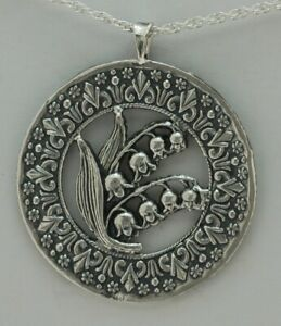LANGUAGE OF FLOWERS  Lily of the Valley Pendant: Circle of Elegance Lily