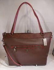 NWT COACH TAYLOR TOTE OXBLOOD MULTI EXOTIC TRIM Leather Satchel Handbag 20898