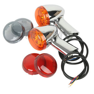 Rear Turn Signals Lights Indicator Amber Fit For Harley Sportster 883 1200 92-up