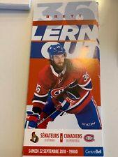 unused season hockey tickets Canadiens featuring Brett Lernout  2018/2019