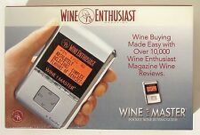 Wine Enthusiast Wine Master Electronic Pocket Wine Buying Guide wRatings&Reviews