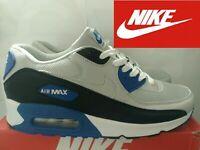 Nike Air Max 90 Essential Scarpa Sneakers Uomo Grigio-Nero-Blu N44 - UK 9 - US10