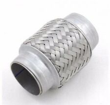 SCARICO IN ACCIAIO INOX TUBO FLESSIBILE 55mm x 100 mm riparazione Giunto