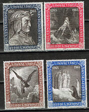 San Marino Dante Famous Poet Paintings stamps 1965 MNH