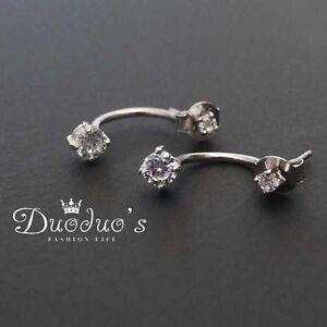 925 Sterling Silver Diamond Stud Earrings