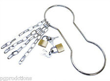 METAL HANDCUFF SHACKLE ESCAPE + Keys Locks Magic Trick Chains Cuff Wrist Houdini