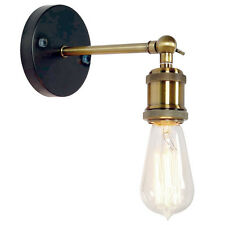 Vintage Edison Style Wall Light Retro Brass Hallway Porch Lamp E27 Bulb Holder