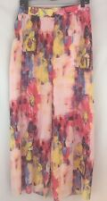 Skye's The Limit Pleated Palazzo Pants Multi Color Floral Print Lined XL NWT $79