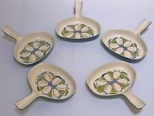 5 x Vintage Poole Pottery Oven to Table Ware Lucullus Egg Bakers/Starter Dishes