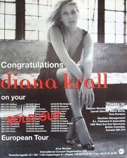 DIANA KRALL 2002 promo ADVERT CONCERT TOUR