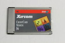 XIRCOM CM-56G 6001052  CREDITCARD MODEM 56  ADAPTER PCMCIA NO CABLES