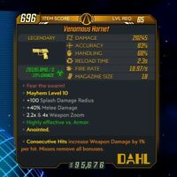 (Xbox) Borderlands 3 [Level 65/Mayhem 10] Hornet (Corr) (1%DMG/Consec)