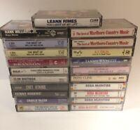 Mixed Lot Of 21 Vintage Cassette Tapes Mostly Country Nelson, Reba, Rogers, Etc