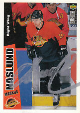 MARKUS NASLUND CANUCKS AUTOGRAPH AUTO 96-97 UD COLLECTORS CHOICE #275 *27160