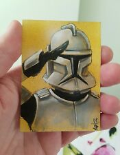 STAR WARS CLONE PILOT SKETCH ART CARD PSC BY JASON POTRATZ & JACK HAI ACEO