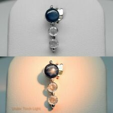 STERLING 925 SILVER SET RING EARRING PENDANT NATURAL STAR SAPPHIRE CZ