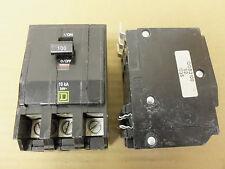 Square D QOB 3 pole 100 amp 240v QOB3100 Circuit Breaker Yellow CHIPPED