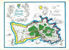 B100518 herm island postcard map cartes geographiques guernsey   uk