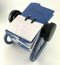 Rolodex Open Rotary Card File - Blue Finish -