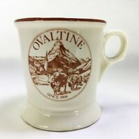 Vintage OVALTINE Chocolate Advertising Cow Cup Mug Buntingware