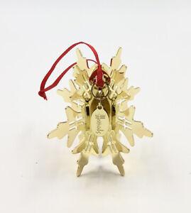 Harrods Gold Metal 3D Snowflake Ornament Decoration 2014 - Rare