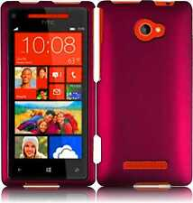 For HTC Windows 8X Rubberized HARD Protector Case Snap On Phone Cover Rose Pink