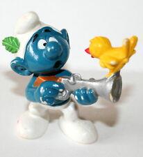 Vintage Smurf Schleich Figure Peyo Bully W. Germany Hunting PVC NEW NOS