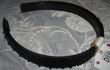 Anita Beautiful Black Headband Sparkling Beads Girls Womens 3/4 inch Wide.