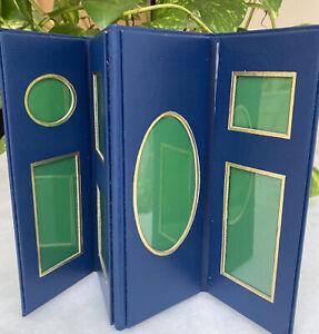 Retired CASPARI Tabletop Folding 7 Picture Frame Monet Giverny Garden Design