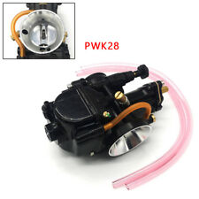 28mm Titanium Black Flat Slide Carburetor Suit To Keihin Carb PWK Mikuni Uniform