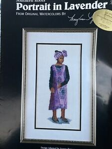 Southern Roots Portrait in Lavender African Black History Cross Stitch Reames