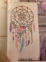 (C) Follow Your Dreams Flower and Feather Dream catcher Cross Stitch Chart