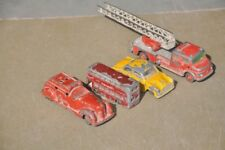 4 Pc Vintage Antimony/Pewter Different Car,Bus Truck Litho Toys,England/Germany