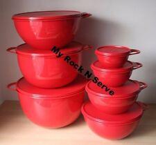 Tupperware Set 7  Thatsa Mixing Bowl  59,42,32,16, 12,6, 2.5 Cup New
