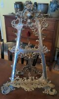 Antique French Dressing Table Easel Nickel Cast Iron Rococo Revival