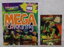 2x NUEVO Teenage Mutant Ninja Turtles Libro-Mega colorante & origen mutantes TMNT