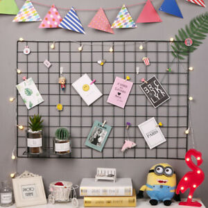 Mesh Grid Rack Wall Decoration Decor Photo Frame Hanger Display Shelf Holder INS