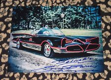 Rare GEORGE BARRIS signed 11x14 photo autograph BATMOBILE Adam West Batman car