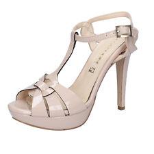 scarpe donna OLGA RUBINI 36 EU sandali beige vernice BY341-B