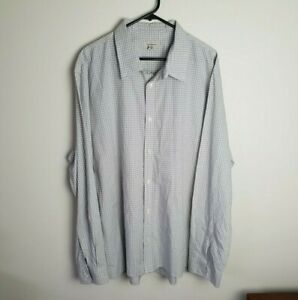 Calvin Klein Mens Long Sleeve Button Up Checkered Shirt Size XXL