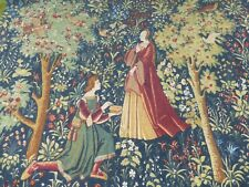 Genuine Huge French Aubusson Tapestry, With Authentication. Tudor Medieval Style
